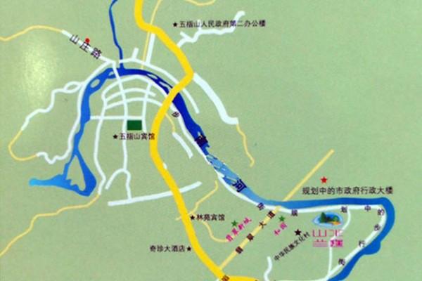 山水兰庭交通图