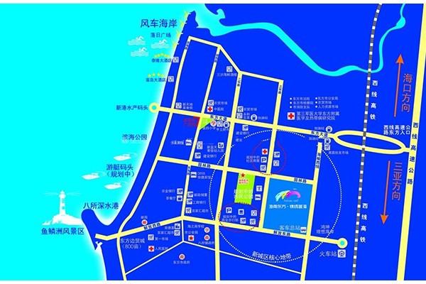 东方锦绣蓝湾交通图