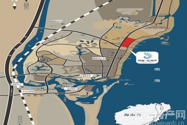 博鳌亚洲湾区位图