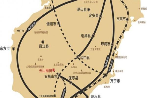 天山丽田交通图