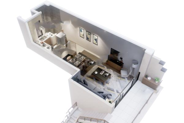 A02户型 2室2厅1卫1厨 83.59㎡- 2